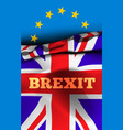 brexit exit great britain from the vector image