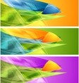 Bright banners with abstract shapes vector image vector image