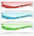 Bright swoosh lines cards set - templates vector image vector image