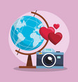 camera and world vector image vector image