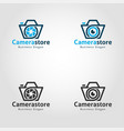 camera store logo template vector image