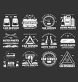 car parts motor oil and auto spare details icons vector image vector image