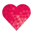 cartoon heart icon vector image vector image