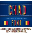 Chad Flag Font vector image vector image