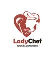 chef woman design vector image vector image