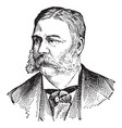 chester alan arthur vintage vector image vector image
