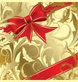 Christmas bow vector image vector image