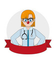 clown doctor cartoon design vector image vector image