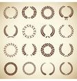 Collection of vintage laurel wreaths vector image vector image