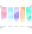 Colorful bright modern flyers collection vector image vector image