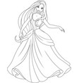 coloring the beautiful princess vector image vector image