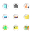 Company icons set cartoon style vector image vector image