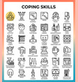 coping skills concept line icons vector image