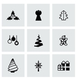 Cristmas trees icon set vector image vector image