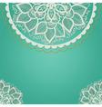 Cultural floral design vector image
