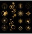 different gold and black design elements set vector image vector image