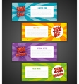 Discount flyer or sale brochure designs Special vector image