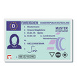 driving license for berlin icon flat style vector image