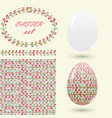 easter set with a handmade pattern motley vector image vector image