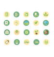 ecological green energy block icons collection vector image vector image