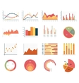 Elements for infographics charts graphs flat vector image vector image