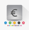 euro european currency symbol icon sign symbol vector image vector image