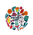father s day banner in doodle style men s vector image vector image
