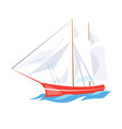 frigate ship on the water vector image vector image