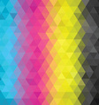 geometric pattern CMYK vector image vector image
