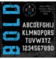 Handmade retro font vector image