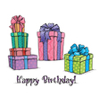 happy birthday gifts vector image vector image