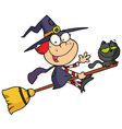 Happy Halloween Witch vector image vector image