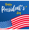 happy presidents day background or banner graphic vector image vector image