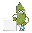 happy smiling dill pickle cartoon character vector image vector image