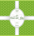 invitation card with green geometric pattern vector image vector image