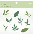 leaf stickers package