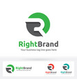 letter r logo letter r in the circle shape with vector image vector image