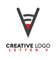 letter v logo creative vector image