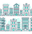 line art city seamless landscapes outline housing vector image vector image