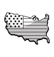 line map with flag inside to celebrate patrotism vector image vector image