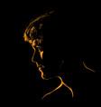 man portrait silhouette in backlight avatar vector image