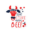 meat store logo template premium beef vintage vector image vector image