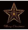 Merry Christmas of lights vector image vector image