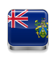 Metal icon of Pitcairn Islands vector image