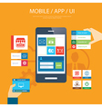mobile app and ui element flat design vector image vector image