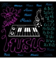 music symbols alphabet vector image