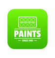 paint tool icon green vector image vector image