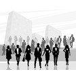people on the background city vector image