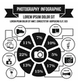 Photography infographic simple style vector image vector image