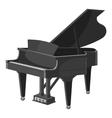 Piano icon gray monochrome style vector image